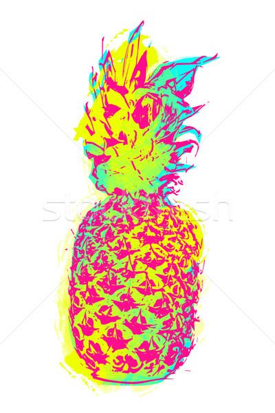 夏 パイナップル 芸術 カラフル 塗料 スタイル ストックフォト © cienpies