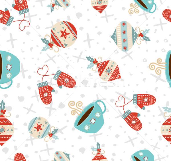 Stockfoto: Vrolijk · christmas · winter · vakantie · cute