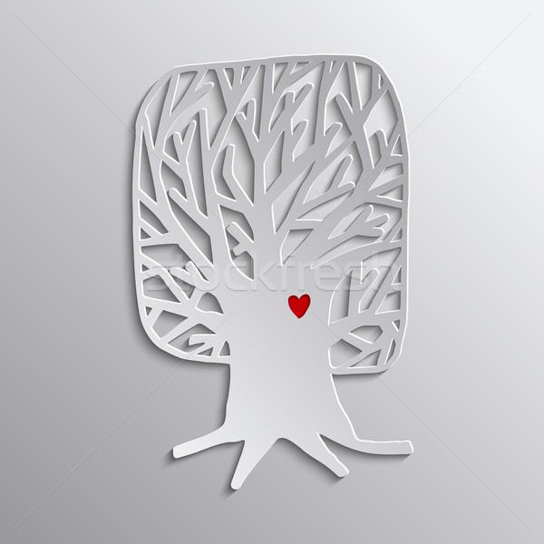 ツリー 中心 カットアウト デザイン 自然 ヘルプ ストックフォト © cienpies