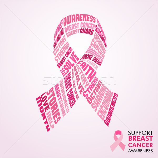 Breast Cancer Awareness Month pink ribbon concept  Stock photo © cienpies