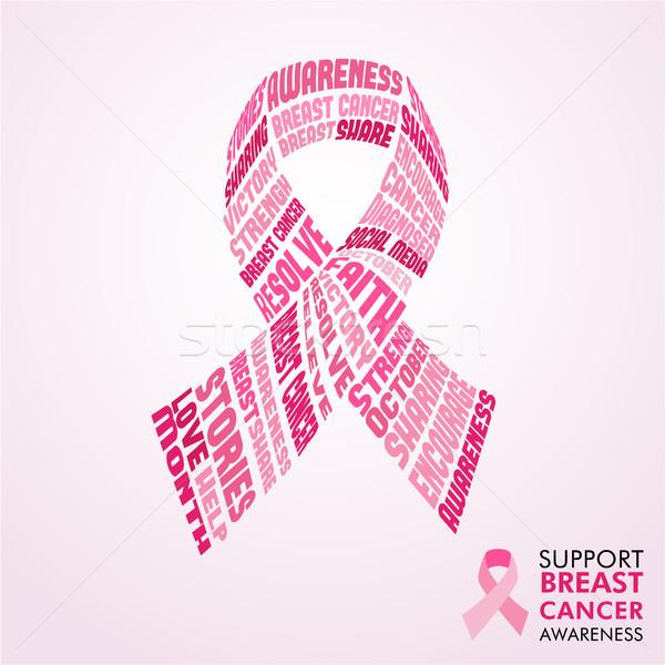 Cancer du sein conscience mois design puissant Photo stock © cienpies
