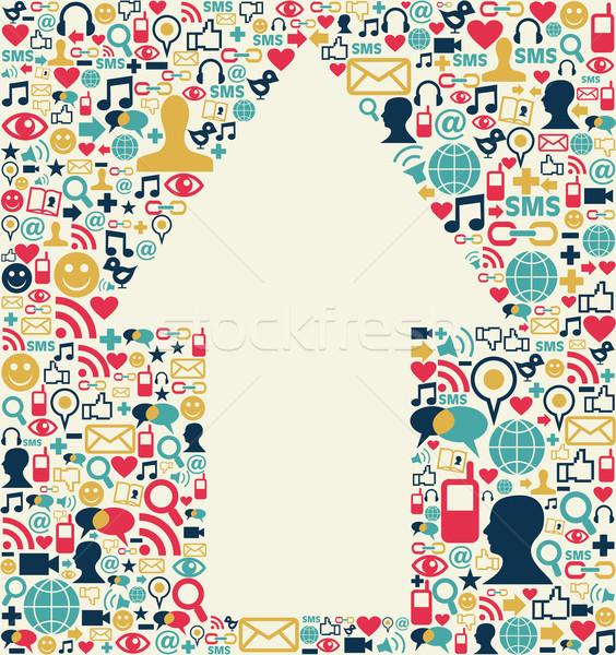 Social media arrow texture Stock photo © cienpies