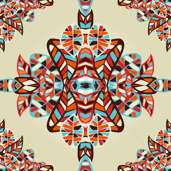 Optic effect geometric leaf pattern Stock photo © cienpies