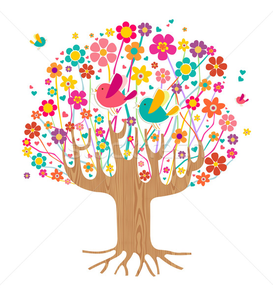 Isolated spring time tree Stock photo © cienpies