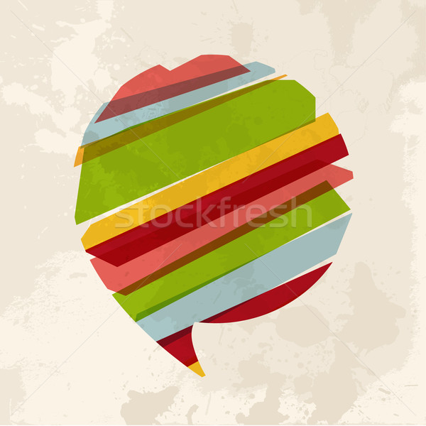 Vintage bolha conversar diversidade cores transparente Foto stock © cienpies