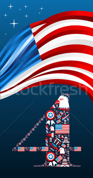 Independence day icons shape Stock photo © cienpies