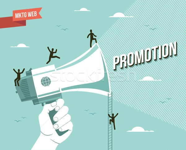 Marketing web promotion illustration Stock photo © cienpies