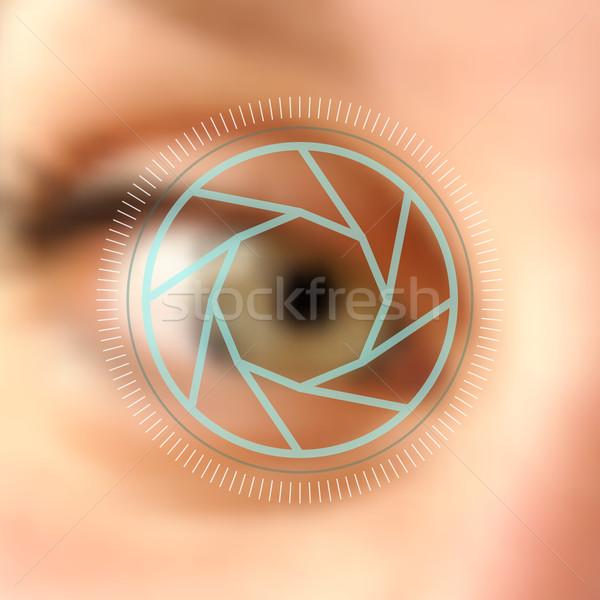 ぼやけた 写真 眼 カメラレンズ デジタル 写真 ストックフォト © cienpies