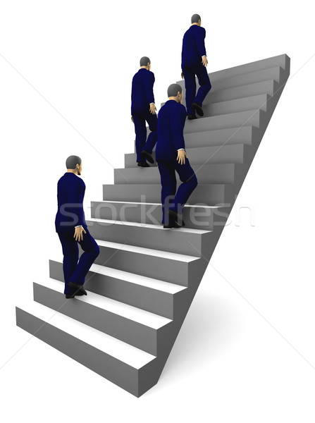 3d Staircase to business success. Stock photo © cienpies