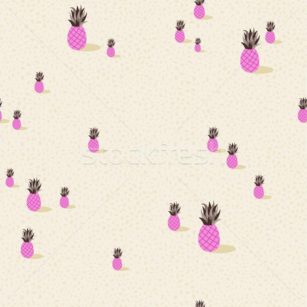 розовый ананаса лет фрукты сезон Сток-фото © cienpies