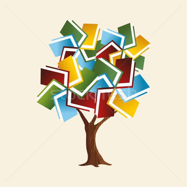 Book tree concept for global education  Stock photo © cienpies