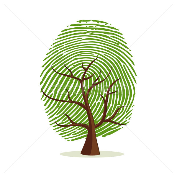 Finger print tree for human identity concept Stock photo © cienpies