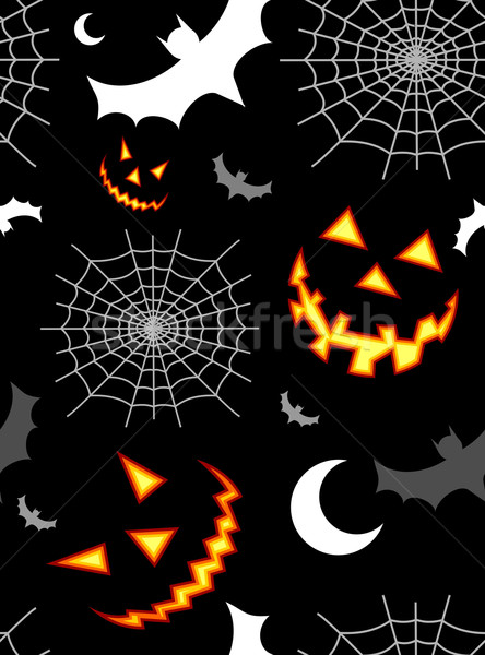 Halloween terreur modèle horreur symboles Photo stock © cienpies