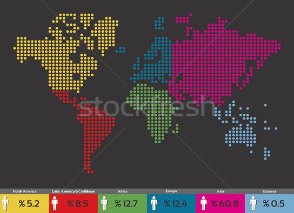 Global nüfus dağıtım dünya haritası dünya vektör Stok fotoğraf © cienpies