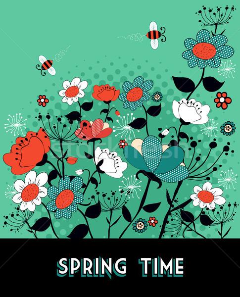 Stock fotó: Tavasz · idő · kert · klasszikus · virág · méh
