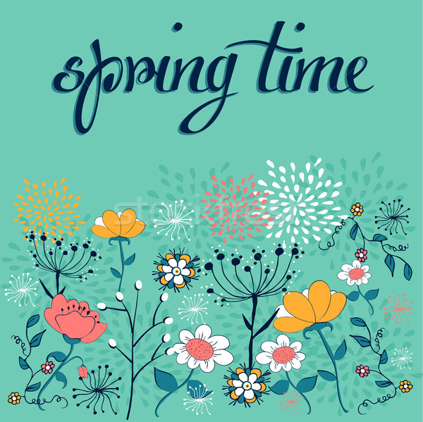 Spring time flower background Stock photo © cienpies