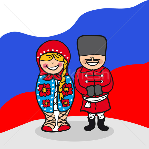 Welcome to Russia people Stock photo © cienpies