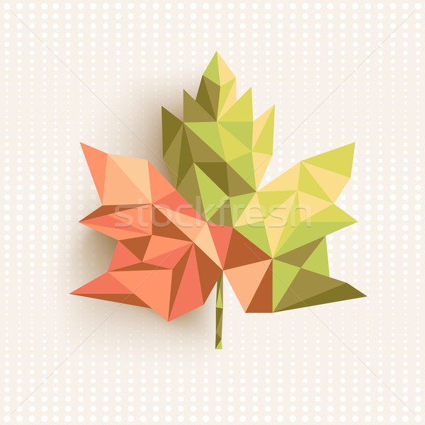 Fall season triangle leaf composition concept background. EPS10  Stock photo © cienpies