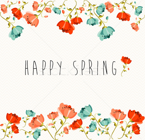 Happy Spring flower composition Stock fotó © cienpies
