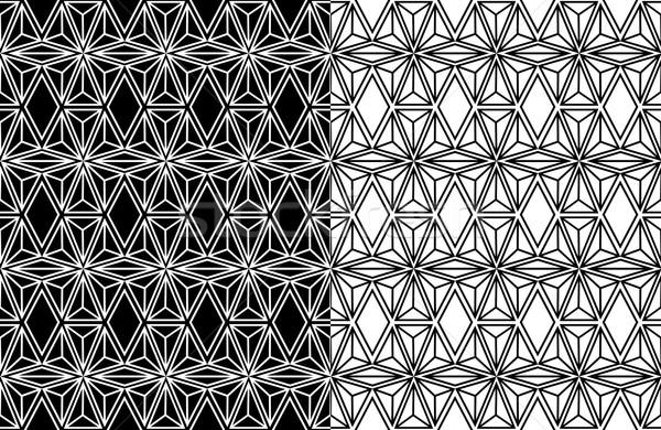 Abstract geometric seamless pattern background Stock photo © cienpies