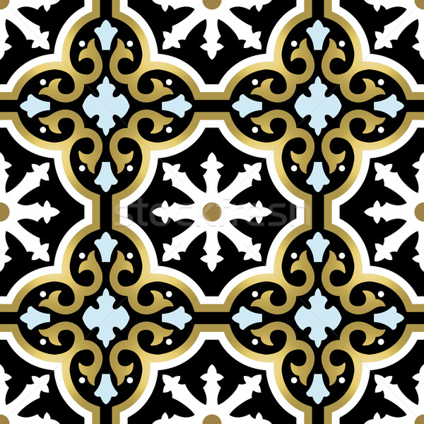 Gold ornamental seamless pattern in vintage style Stock photo © cienpies