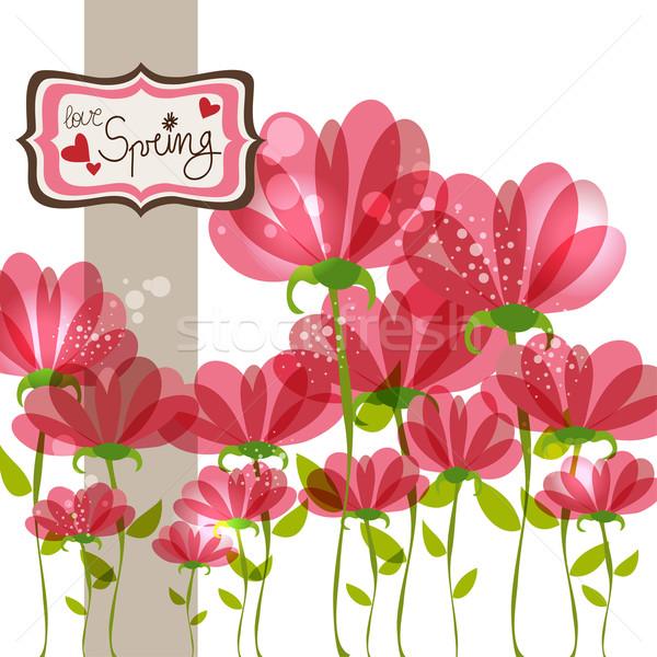 Primavera cair amor tempo contemporâneo transparente Foto stock © cienpies