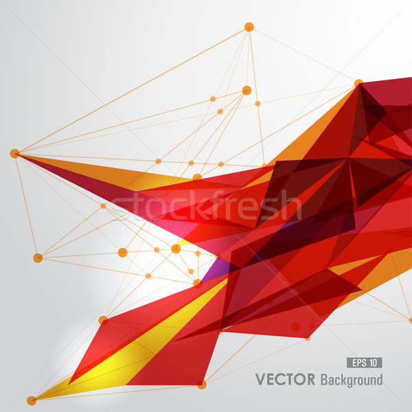 Yellow and red web geometric transparency. Stock photo © cienpies