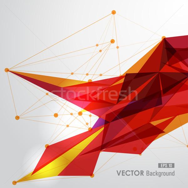 Jaune rouge web géométrique transparence modernes Photo stock © cienpies