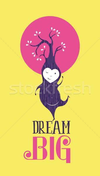 Dream big motivation inspiration quote card happy Stock photo © cienpies