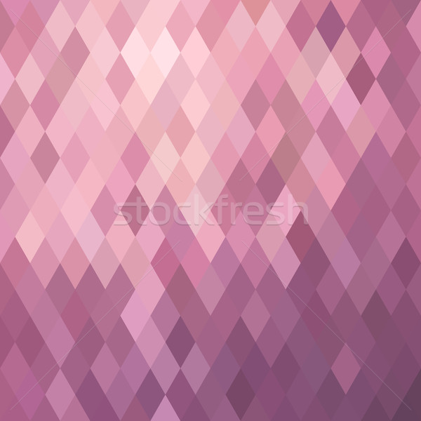 Pink background illustration with rhombus Stock photo © cienpies