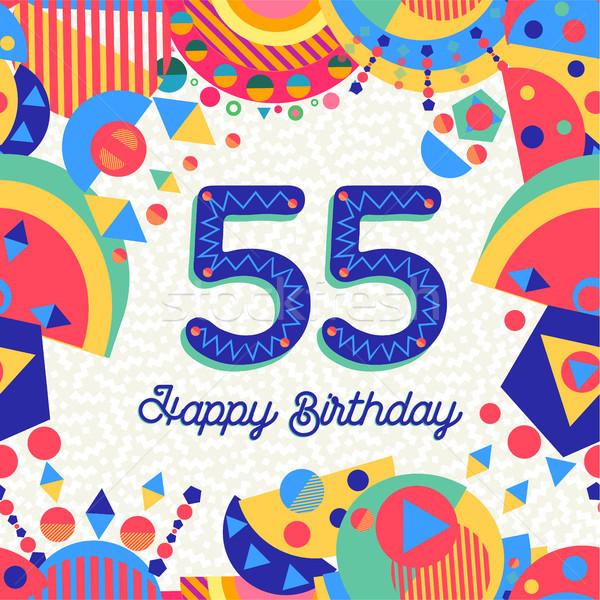 Сток-фото: пятьдесят · пять · год · празднование · дня · рождения · С · Днем · Рождения