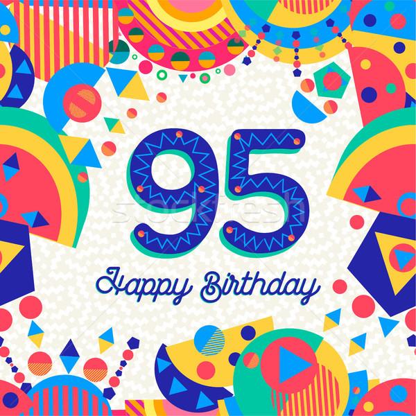 Сток-фото: пять · год · празднование · дня · рождения · С · Днем · Рождения · весело