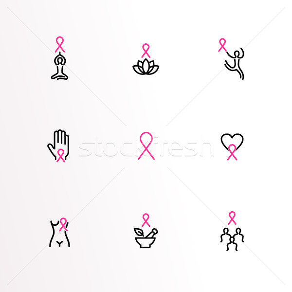 Cancer du sein soins conscience Photo stock © cienpies