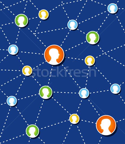社会的ネットワーク 接続 図 ウェブ 社会 関係 ストックフォト © cienpies