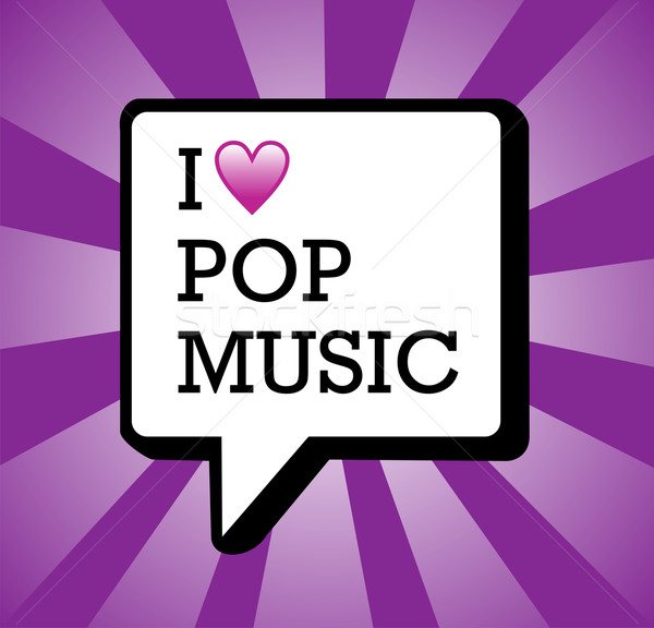 Amour pop musique illustration texte communication Photo stock © cienpies