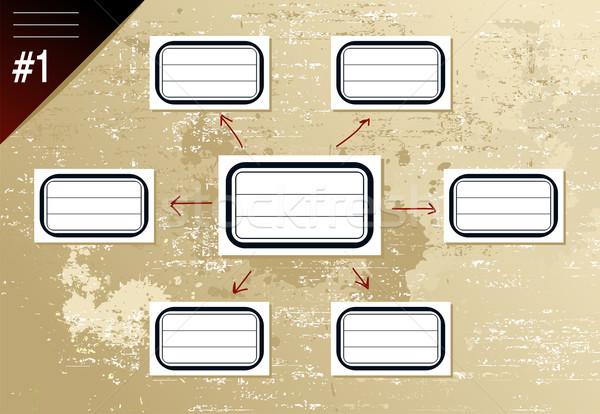 Vintage hierarchy diagram Stock photo © cienpies