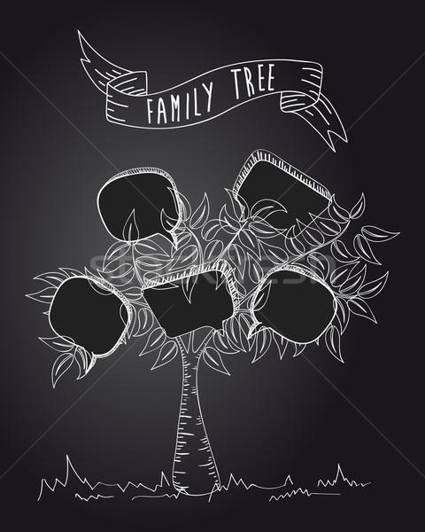 Vintage social media tree Stock photo © cienpies