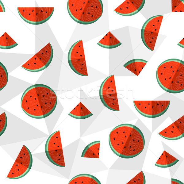Pastèque été saine fruits design Photo stock © cienpies