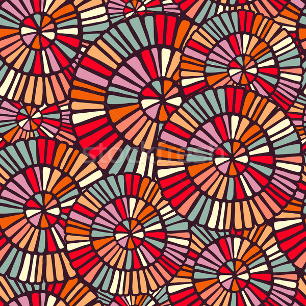 Background pattern with colorful circle mosaic art Stock photo © cienpies