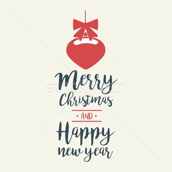 Рождества цитировать каллиграфия безделушка иллюстрация веселый Сток-фото © cienpies