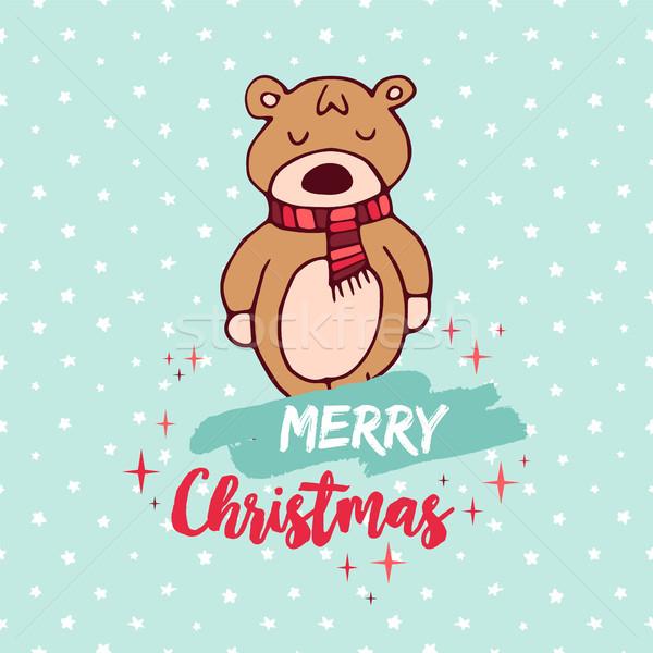 Navidad cute vacaciones bebé tener Cartoon Foto stock © cienpies