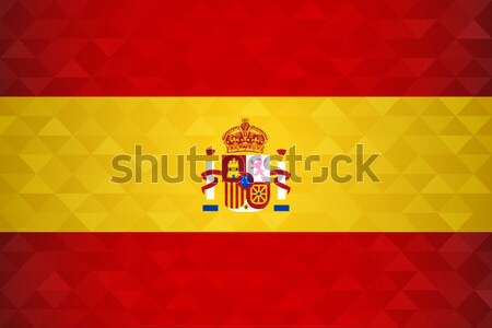 Spain flag background for russian soccer event Stock photo © cienpies