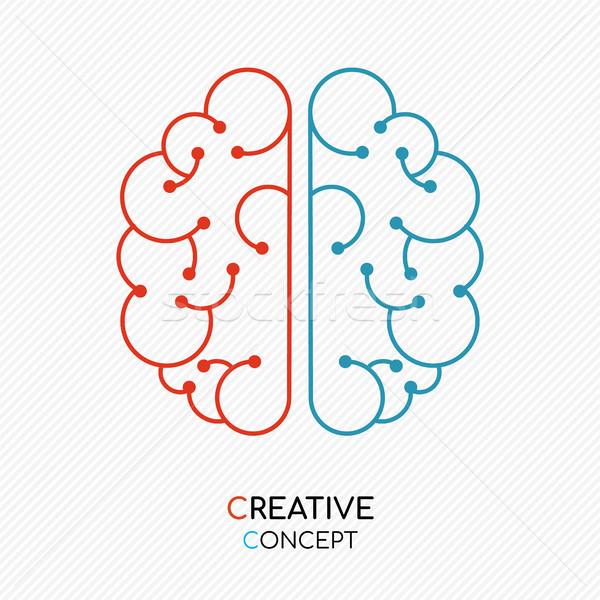 創造的思考 人間の脳 新しい アイデア 実例 現代 ストックフォト © cienpies