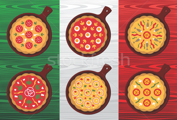 Italiano pizza sabores diferente Foto stock © cienpies