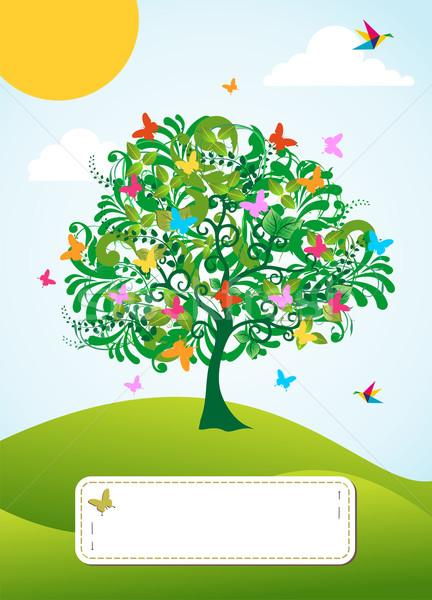 Сток-фото: аннотация · весны · время · дерево · цветы