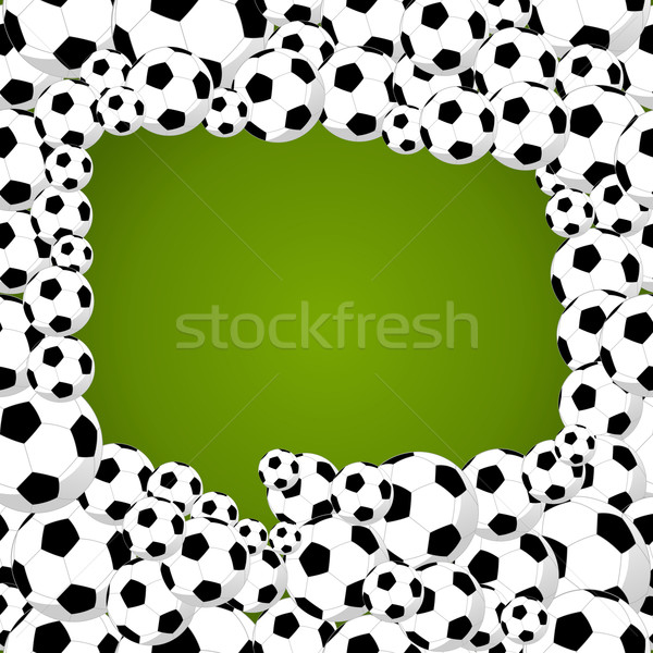 2014 brazil world soccer championship, speech bubble shape illus Stock photo © cienpies