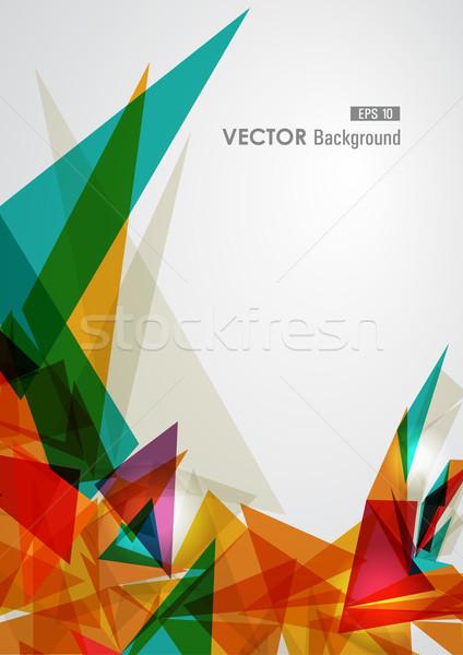 Renkli geometrik şeffaflık modern şeffaf soyut Stok fotoğraf © cienpies