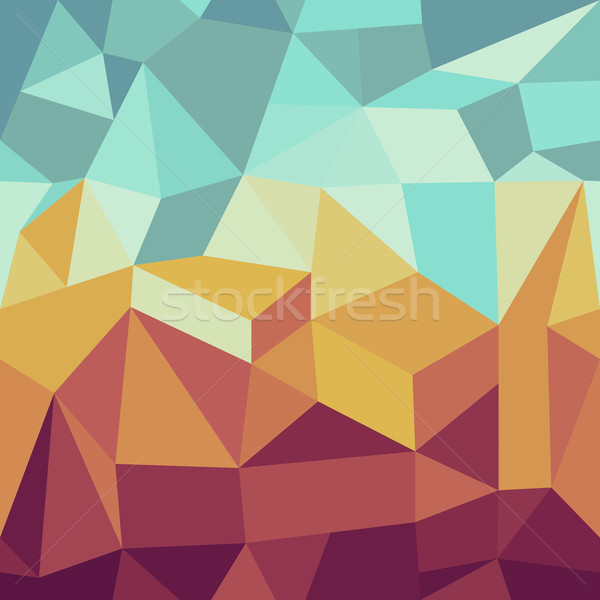 Stock photo: Vintage hipsters geometric pattern.