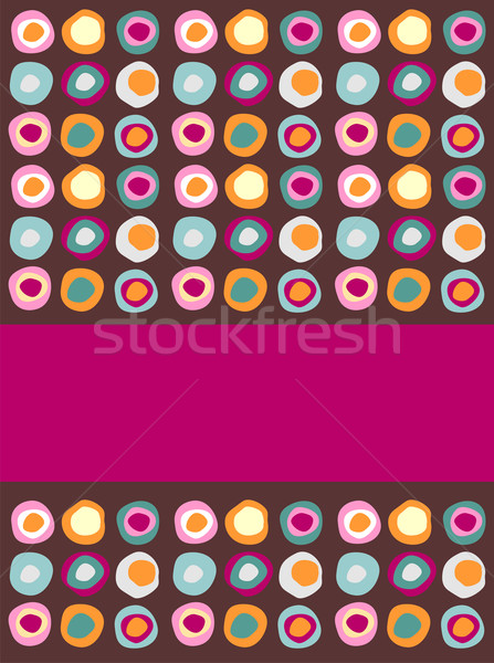 Multicolored dots background Stock photo © cienpies