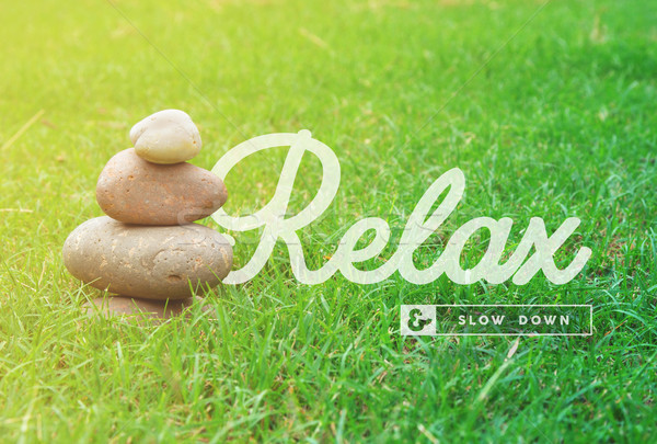 Relax motivational quote concept background Stock photo © cienpies